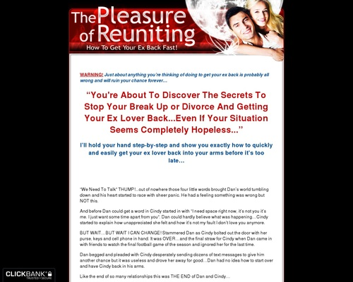 Pleasure Of Reuniting - How To Get Your Ex Back - Relationship Advice - Break
