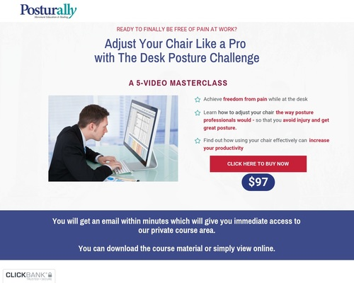 Desk Posture Challenge Page | Posturally