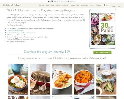 30 Day Paleo Diet Meal Plan | Shopping Lists | Easy Recipes | Primal Palate |