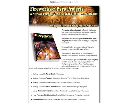 Fireworks & Pyro Projects eBook - Over 120 Projects — Skylighter, Inc.
