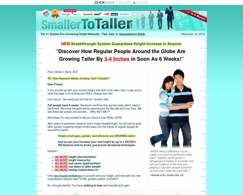 Grow taller and increase your height naturally with PROVEN scientific
