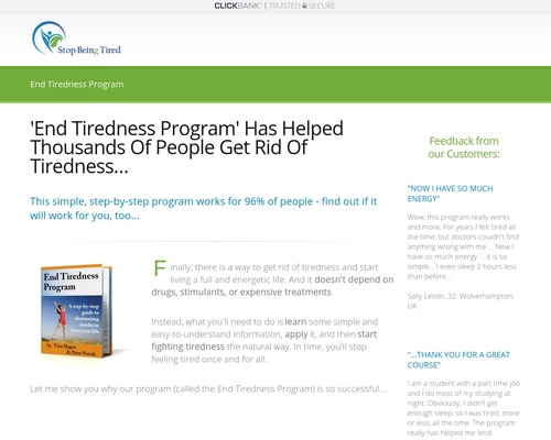 'End Tiredness Program' Has Helped Thousands Of People Get Rid Of
