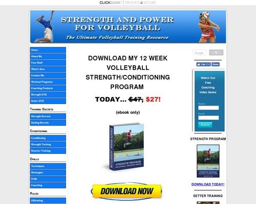 Volleyball Training Programs | #1 World Wide Volleyball Strength Program