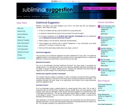 Subliminal Suggestion - Brainwave Entrainment Store