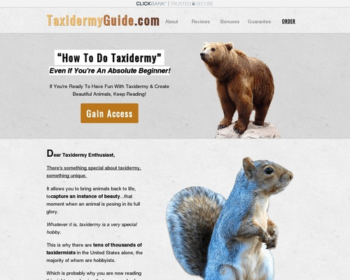 Taxidermy Made Easy - How To Taxidermy Guide: DIY Taxidermy Classes &