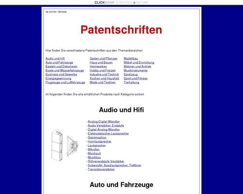 Patentschriften