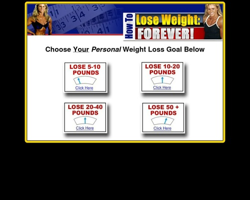 What's your weight loss goal?
