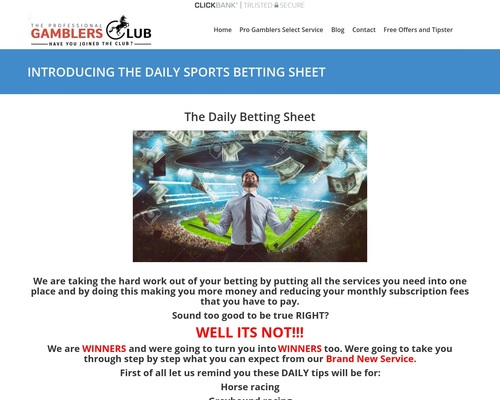 INTRODUCING THE DAILY SPORTSBETTING SHEET – Welcome To The