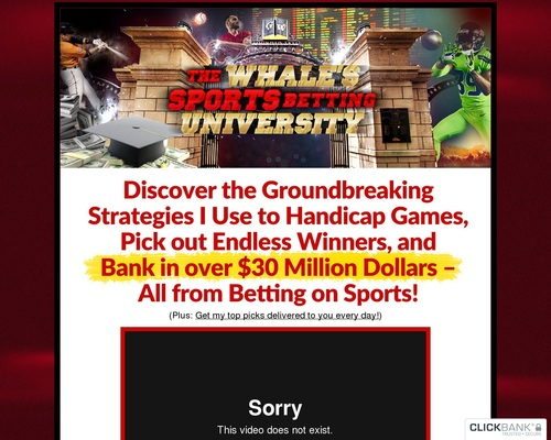 The Whale's Sports Betting University