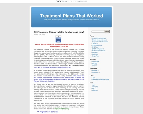 Treatment Plans That Worked | Real-World Treatment Plans that were actually