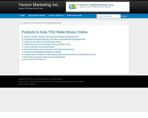 Products To Help You Make Money Online