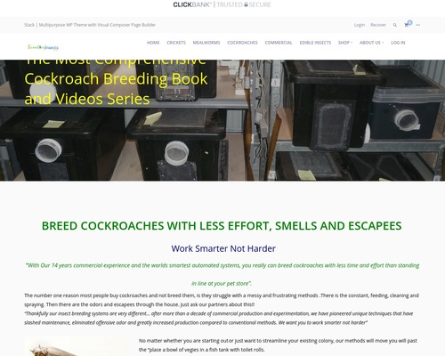The Complete Cockroach Breeding Manual-Clickbank – Breeding Insects