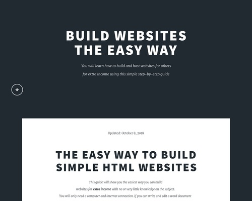 Easy way to build simple HTML websites