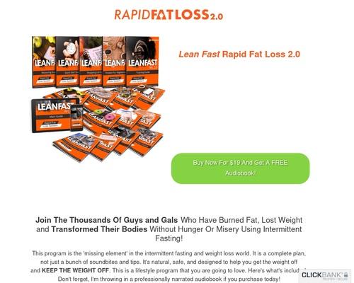 Lean Fast Rapid Fat Loss Intermittent Fasting Program – Rapid Fat Loss
