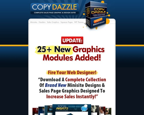 Copy Dazzle: Complete Minisite, Salespage, Squeeze Page & Graphic