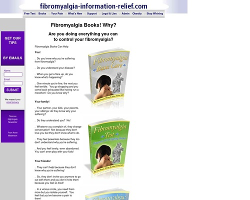 Fibromyalgia books are a good complement to the website information