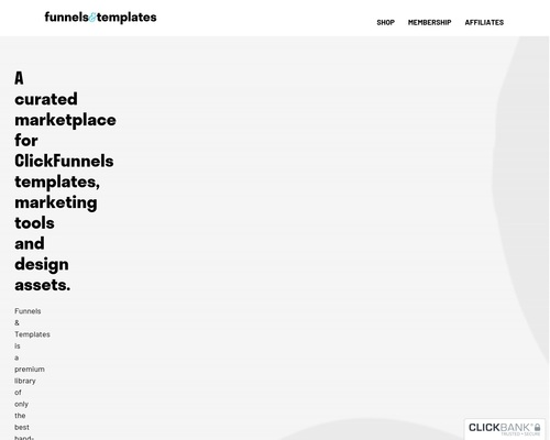Funnels & Templates – ClickFunnels Templates Marketplace