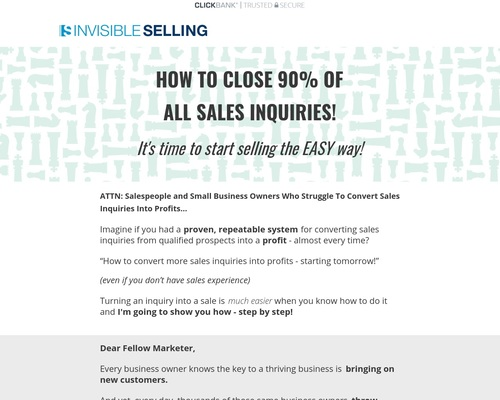 Invisible Selling from Gerry Black