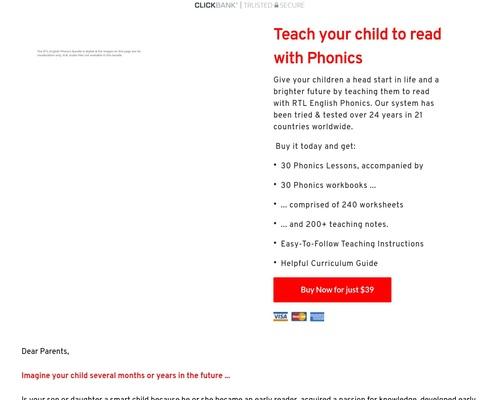 Phonics Lessons & Workbooks for Kids | Phonics Courses - RTL English