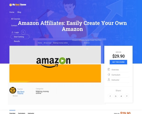 Amazon Affiliates: Easily Create Your Own Amazon - My Best Theme