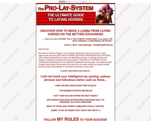 PRO-LAY-SYSTEM - The Ultimate Guide To Laying Horses