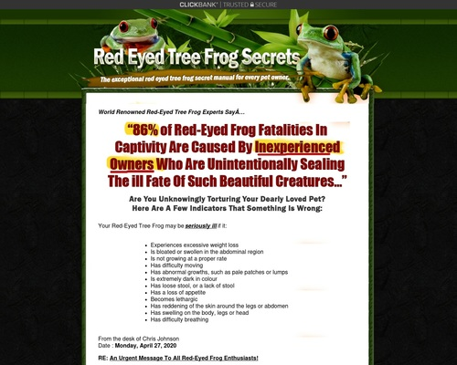 Red Eyed Tree Frog Secrets