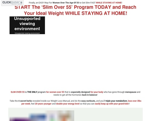 Slim Over 55 sales page slimover FOR $5
