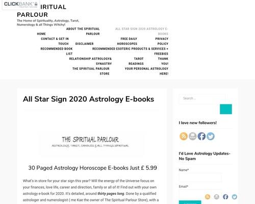 Astrology Horoscope E-books   The Spiritual Parlour