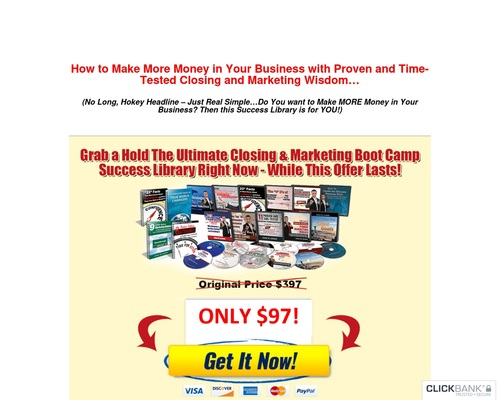 The Ultimate Closing And Marketing Success Library