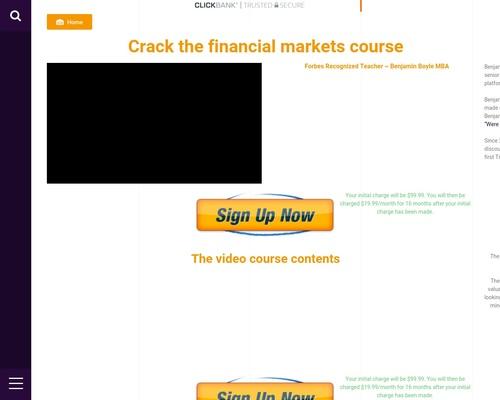 Crack the financial markets course – Coffer Lattice