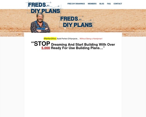 Freds 5000 Do-it-yourself Building Plans!