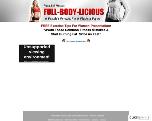 Flavia Del Monte's Weight Loss and Fitness For Women - Get A Flawless Female