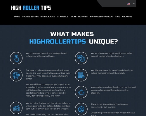 High Roller Tips - Sports betting tips, football betting tips, high odds