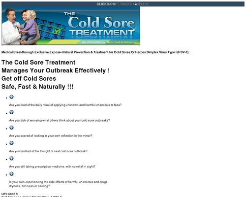 Cold Sore Treatment - Learn How To Get Rid Of Cold Sores Faster