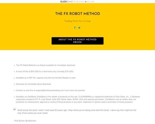 Clickbank Offer - The FX Robot Method