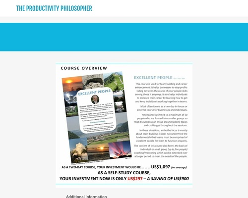 Excellent People Study | THE Productivity Philosopher