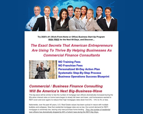 Business Training: Commercial  / Business Finance Consulting, loan broker