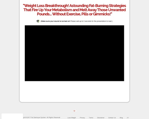 Fat Destroyer System - Stunning Sales Page Design High Converting