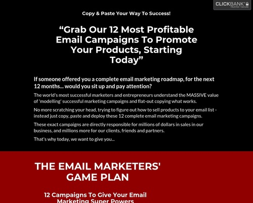 The Email Marketers' Game Plan