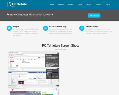 PC Tattletale - Computer and Internet Monitoring Software For Parents And