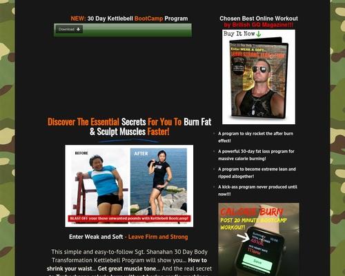 (cb) sgt shanahan 30 day kettlebell bootcamp body transformation program