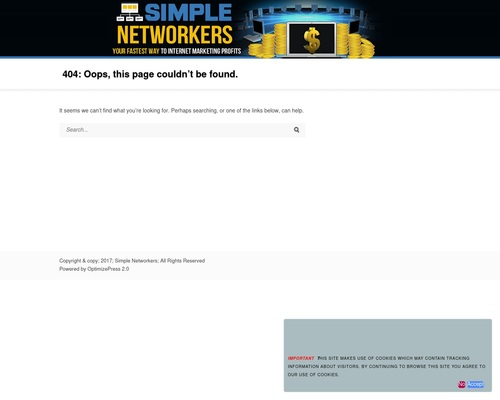 Page not found — Simple Networkers
