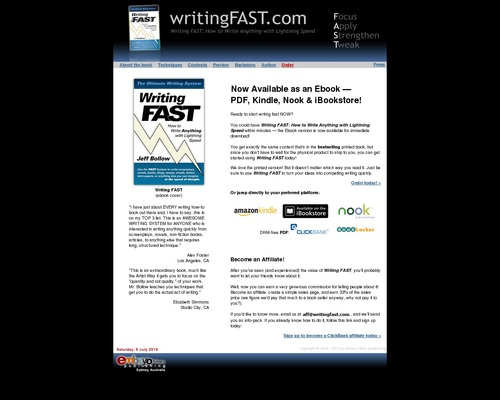Now Available as an Ebook -- Writing FAST