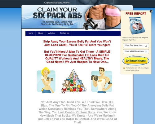Claim Your Six Pack Abs: Fat Burning Tips, Meals and Workouts To Destroy