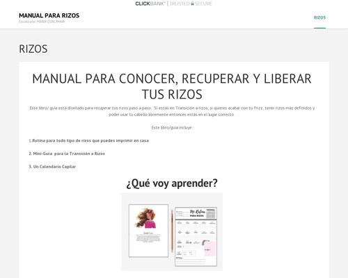 """""""rizos"""" Manual Para Recuperar El Cabello Rizado"""