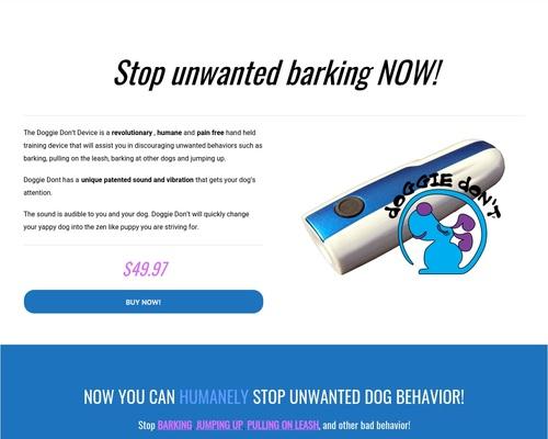 Doggie Don't Device - Dog Behavior Training Device