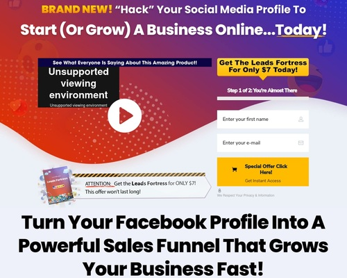 Leads Fortress – Transform Your Social Media Profile To Generate Free