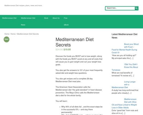Mediterranean Diet Secrets - MediterraneanDietSecrets.com: Mediterranean diet