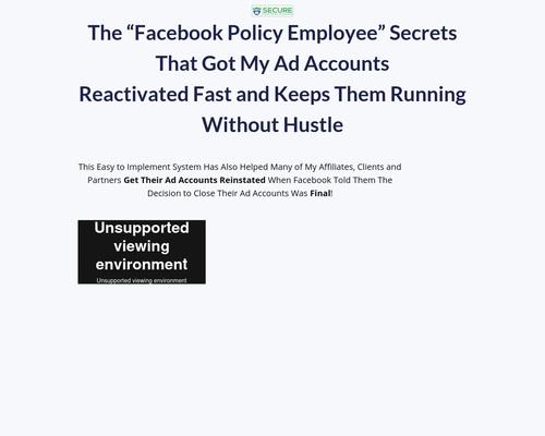 Secure Fb Ad Accounts
