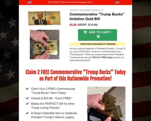 Fun Commemorative Trump Faux Bills